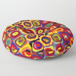 Kandinsky Modern Squares Circles Colorful Floor Pillow