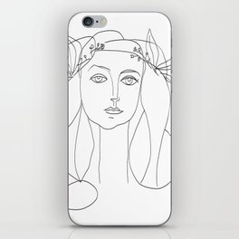 Picasso Line Art - Woman's Head iPhone Skin