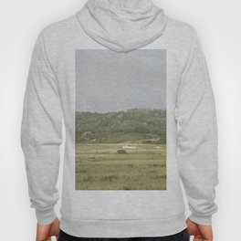 Boat on the grass Hoody