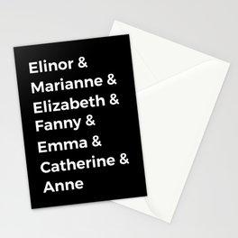 Jane Austen's Heroines I Stationery Cards