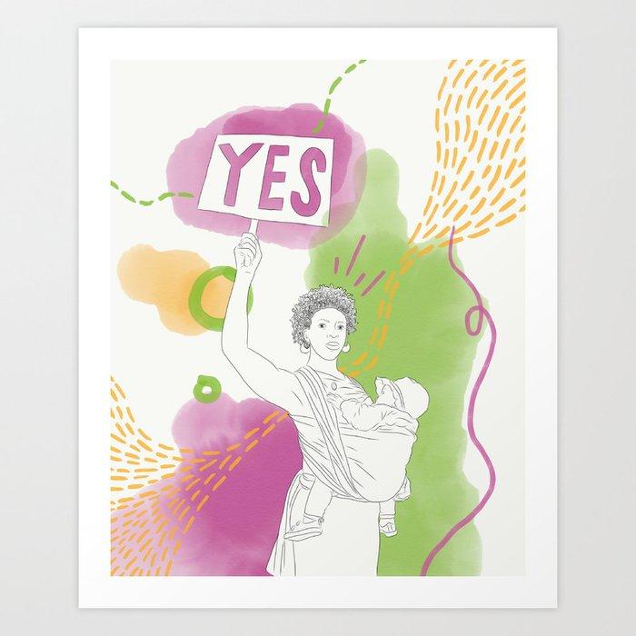 Yes Queen Art Print