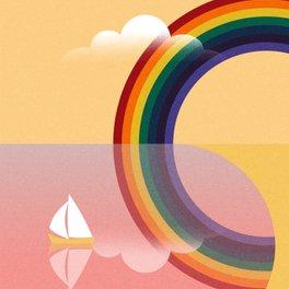 Art Print - Rainbow by the Sea - Andrei Popa