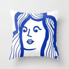 Yo-Yo Girl Throw Pillow