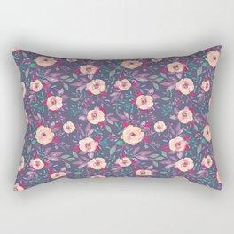 Flower Watercolor Pattern Rectangular Pillow