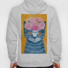Frida Catlo in Blue Hoody
