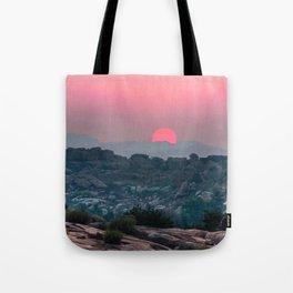 Otherworldly sunrise of Hampi, India Tote Bag