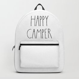 Happy Camper text Backpack