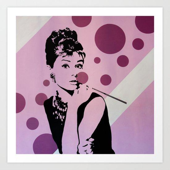 Hepburn #1 Art Print