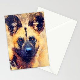 african wild dog #wilddog #animals Stationery Cards