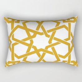 Yellow Islamic Geometric Art Rectangular Pillow