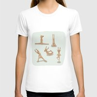 nirvana T-shirts featuring Yoga deer attain nirvana by Shawn Carney Art