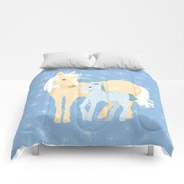 Unicorns. Mom and baby Comforters