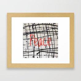 Best foot forward - Peace Framed Art Print