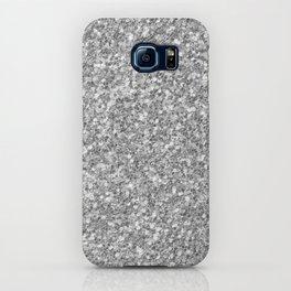 Silver Gray Glitter iPhone Case