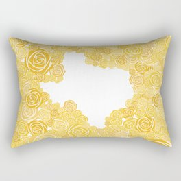 Texas Yellow Rose Outline Rectangular Pillow