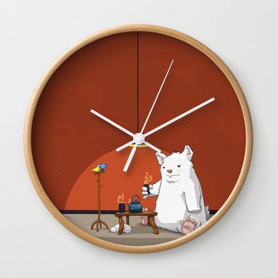 Tea for Three Wall Clock