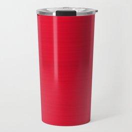 Juicy Red Apple Brush Texture Travel Mug