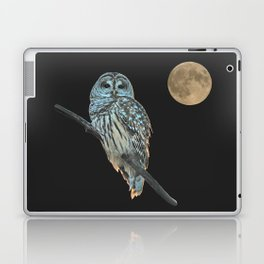 Owl, See the Moon (sq Barred Owl) Laptop & iPad Skin