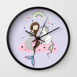 Mermaid & Unicorn Wall Clock