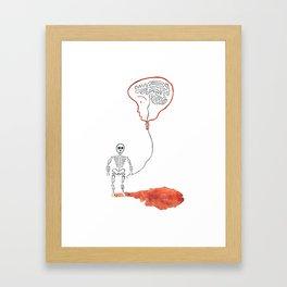 A Slow Unravel Framed Art Print
