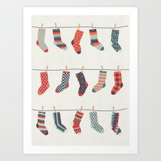 Don't Waste Time Matching Socks Art Print