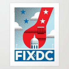 FIX DC Art Print