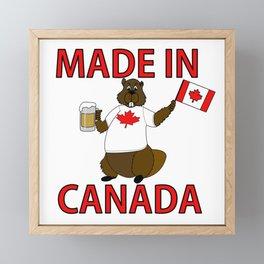 made in canada Framed Mini Art Print