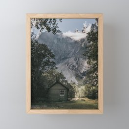 Mountain Cabin - Landscape and Nature Photography Framed Mini Art Print