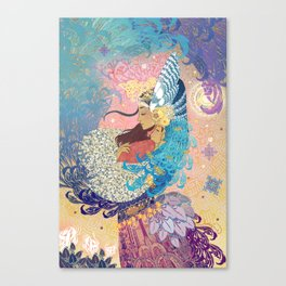 Goddess tenderness Canvas Print