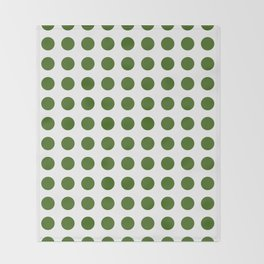 Simply Polka Dots in Jungle Green Throw Blanket