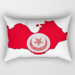 Tunisia Map with Tunisian Flag Rectangular Pillow