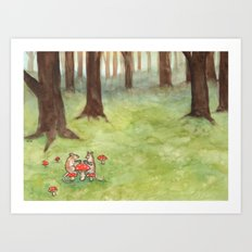Morning Tea Art Print