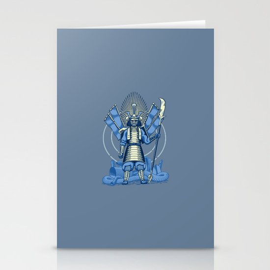 Samurai Nightmare Stationery Cards