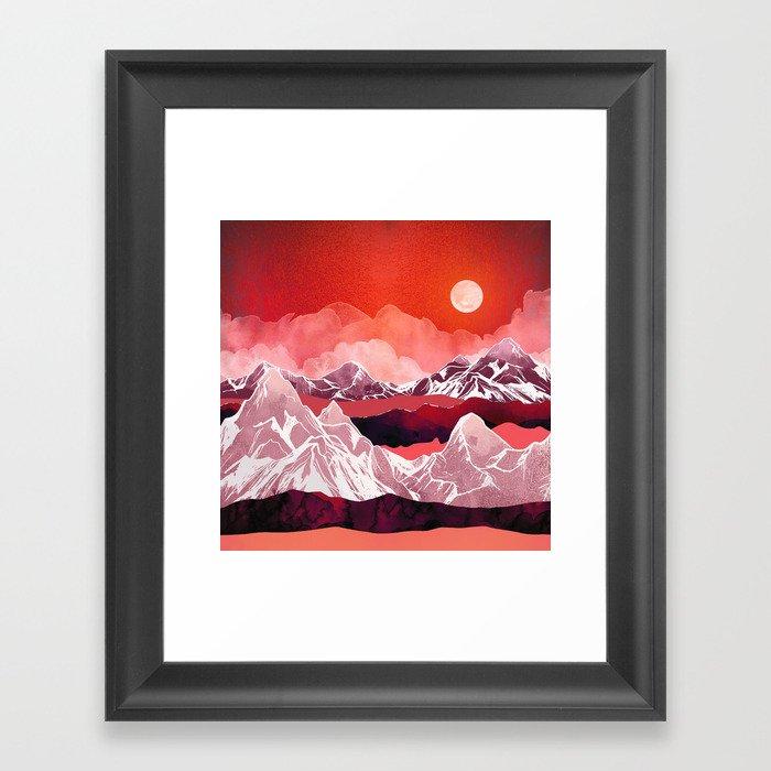 Scarlet Glow Gerahmter Kunstdruck