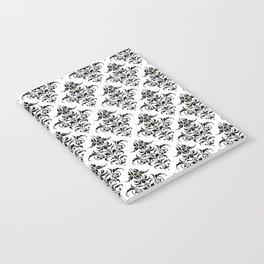 Damask Pattern | Black and White Notebook