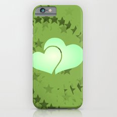 Two green hearts illusion Slim Case iPhone 6s