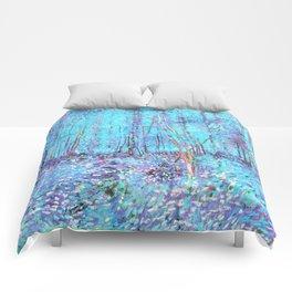 Van Gogh Trees & Underwood Aqua Lavender Comforters