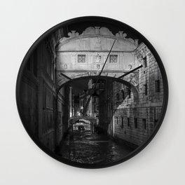 Bridge of Sighs, Venice Wall Clock