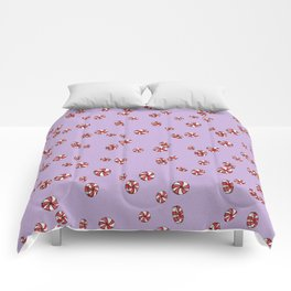 Peppermint Candy in Purple Comforters