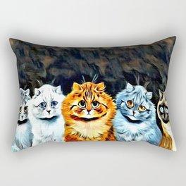 """Louis Wain's Cats """"Five Cats"""" Rectangular Pillow"""