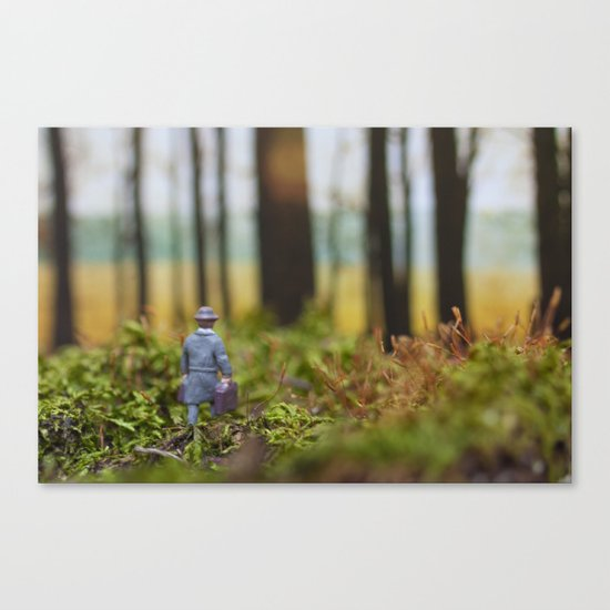 In Search of Bigfoot (Ode to Thoreau) Canvas Print