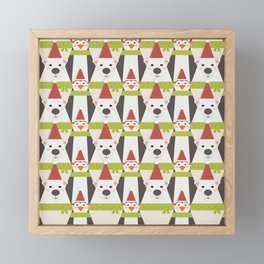 Penguins & Polar Bears (Patterns Please) Framed Mini Art Print