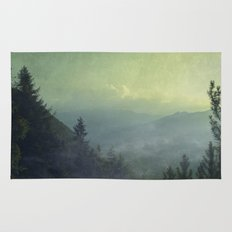 Mist over valley - view of Valmalenco / Italy Rug