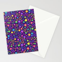 Rainbow Pattern Neck Gator Rainbow Stars Rainbow Nostalgia Stationery Cards