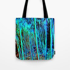 Blue Bamboo Forest Tote Bag