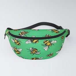 ALL DA BEES (mini) - Green Fanny Pack