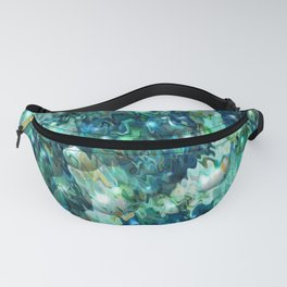 Blue Christmas Abstract Fanny Pack