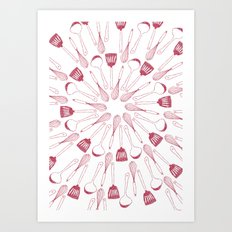 whisk me away Art Print