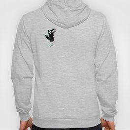 Scared fishcrow  Hoody
