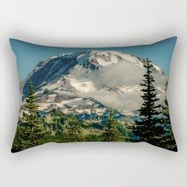 Mountain, Scenic, Mt. Rainier Rectangular Pillow